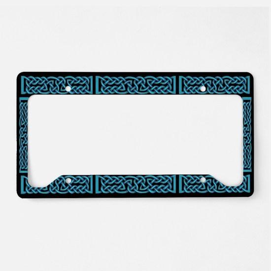 Celtic Knot Blue License Plate Holder