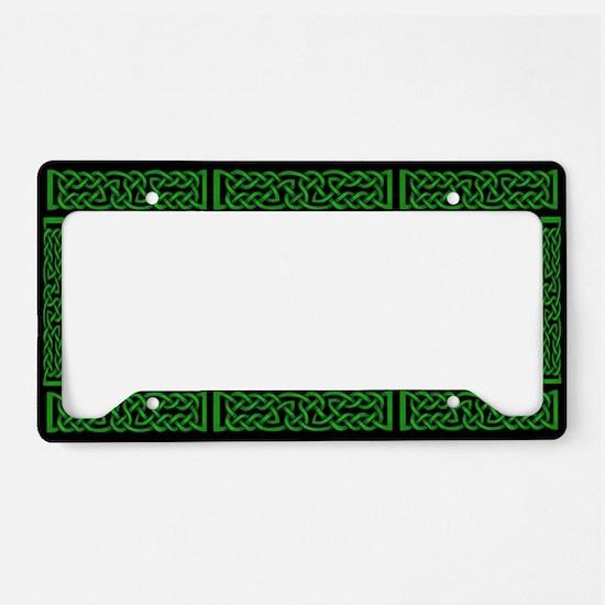 Celtic Knot Green License Plate Holder