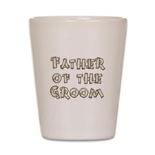 Country Father of the Groom Shot Glass