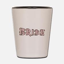 Country Wedding Bride Shot Glass