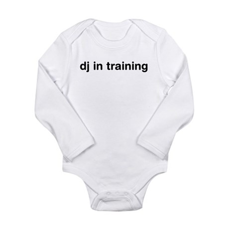 DJ In Training Long Sleeve Infant Bodysuit