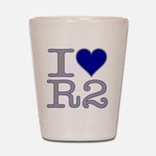 I Heart R2 Shot Glass