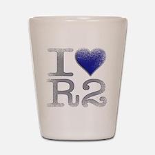 I Love R2 (Vintage) Shot Glass