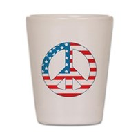 4th July Peace Shot Glass