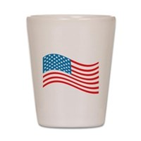 American Flag Wave Shot Glass