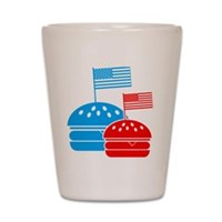 American Flag Burger Shot Glass