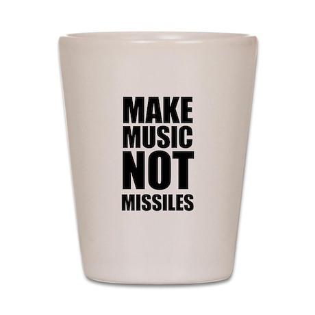 Make Music Not Missiles Shot Glass