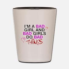 Cute Bad girl Shot Glass