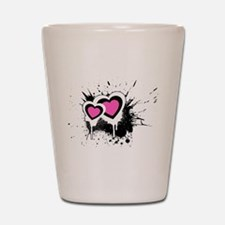 Exploding hearts Shot Glass
