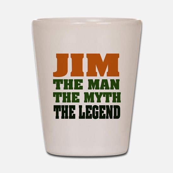 JIM - The Legend Shot Glass