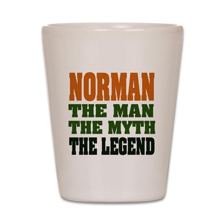 NORMAN - the legend! Shot Glass