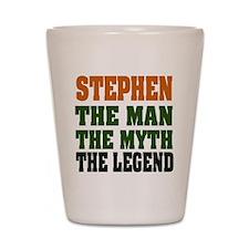 STEPHEN - the legend Shot Glass