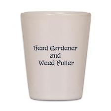 Head Gardener Shot Glass