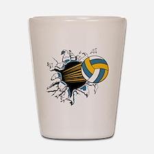 Volleyball Burst Shot Glass