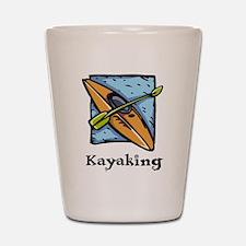 Kayaking Shot Glass
