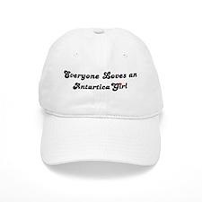 Loves Antarctica Girl Baseball Cap