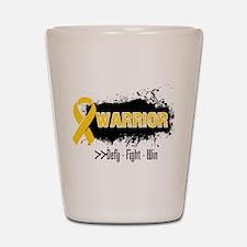 Childhood Cancer Warrior Shot Glass