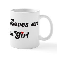 Loves Antarctica Girl Coffee Mug