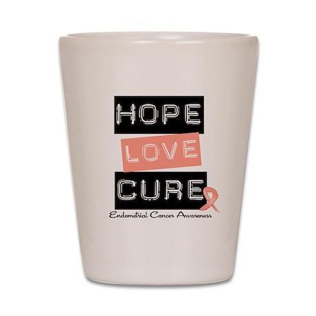 Endometrial Cancer Hope Shot Glass