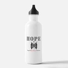 HopeButterfly BrainCancer Water Bottle