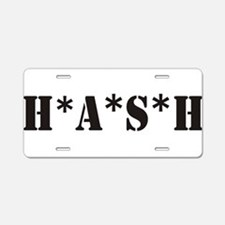 H*A*S*H Aluminum License Plate