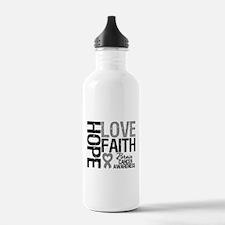 Brain Cancer Faith Water Bottle