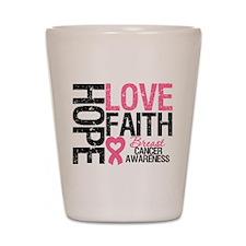 Breast Cancer Faith Shot Glass