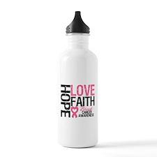 Breast Cancer Faith Water Bottle
