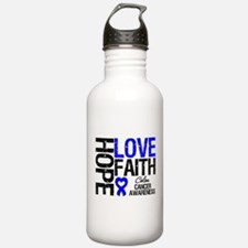 Colon Cancer Faith Water Bottle