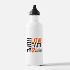 Leukemia HopeLoveFaith Water Bottle