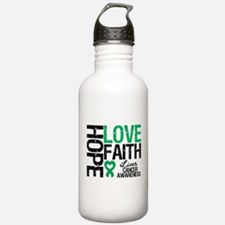 Liver Cancer Faith Water Bottle