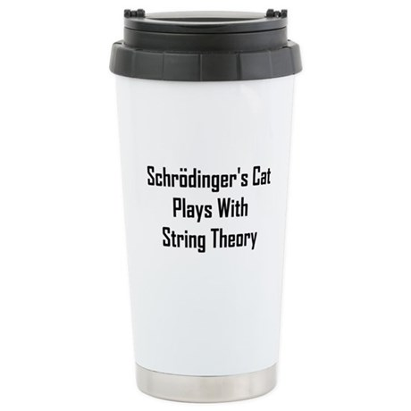 Schrodinger's Cat Plays Stainless Steel Travel Mug
