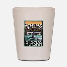 Alaska Whale Shot Glass
