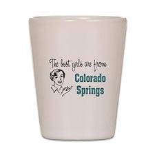 Best Girls Colorado Springs Shot Glass