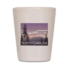 North Carolina Mountains Shot Glass
