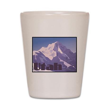 Utah Mountains Shot Glass