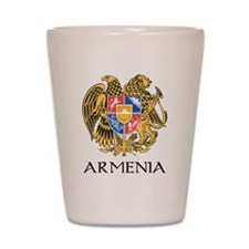 Armenian Coat of Arms Shot Glass