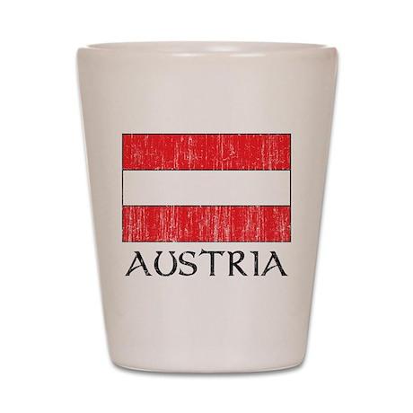 Austria Flag Shot Glass