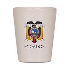 Ecuador Coat of Arms Shot Glass