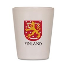 Finland Coat of Arms Shot Glass