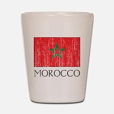 Morocco Flag Shot Glass