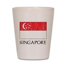 Singapore Flag Shot Glass