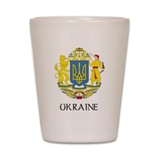Ukraine Coat of Arms Shot Glass