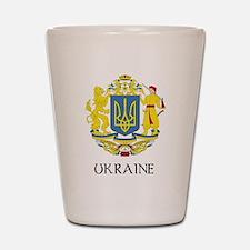Ukraine Coat of Arms Shot Glass