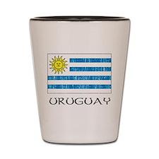 Uruguay Flag Shot Glass