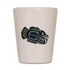Tribal Fish Shot Glass