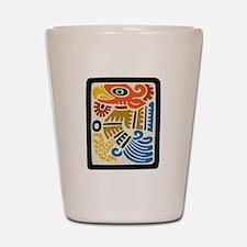 Mexican Aztec Eagle Shot Glass