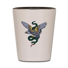 Eagle and Snake Tattoo Shot Glass