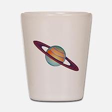 Planet Saturn Shot Glass