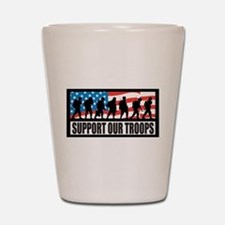Support our troops - Infantry Shot Glass